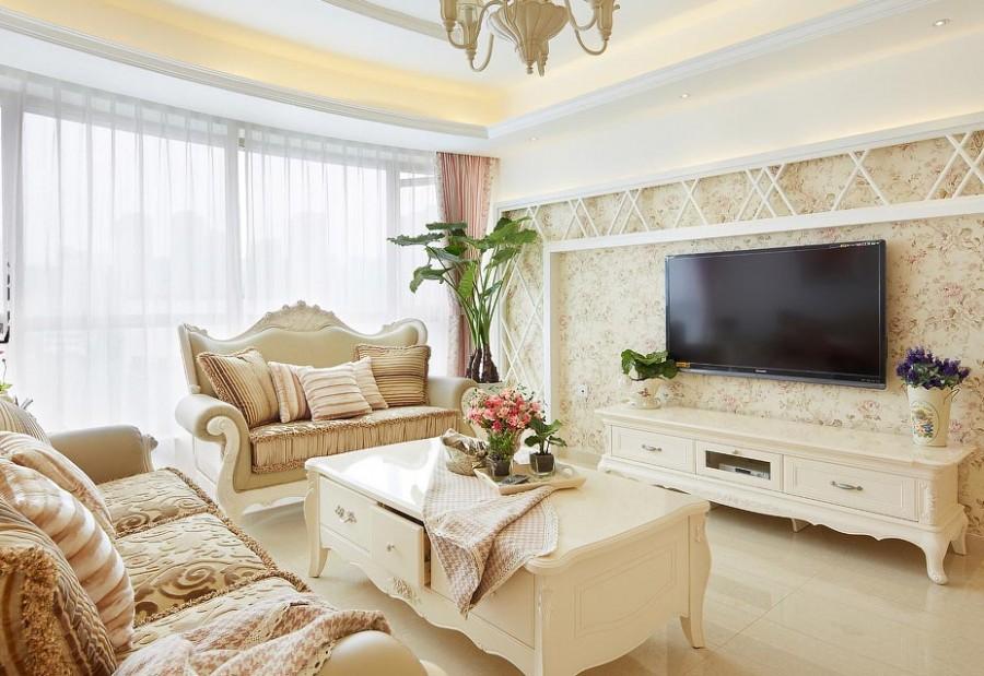 大理石欧式电视背景墙效果图参考